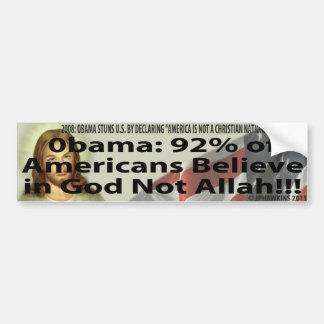 ギャロップ: アメリカ人の90%は神ないアラーで信じます バンパーステッカー