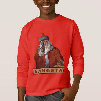 ギャングのサンタのワイシャツ及びジャケット Tシャツ