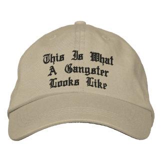 ギャングの帽子 刺繍入りキャップ