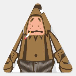 ギャング猿 三角形シール