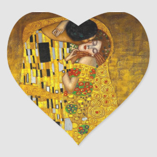 ギュスターブのクリムトによるキス ハートシール