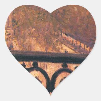 ギュスターブCaillebotte著パリのバルコニー ハートシール