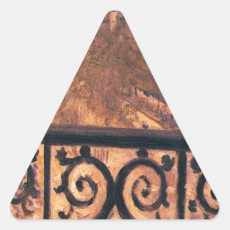 ギュスターブCaillebotte著パリのバルコニー 三角形シール