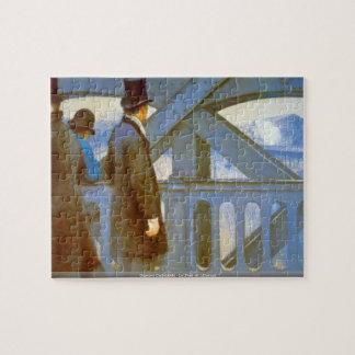 ギュスターブCaillebotte - Le Pont de LEuropeのパズル ジグソーパズル
