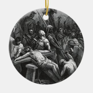 ギュスターブDore著版木、銅版、版画のイエス・キリストのはりつけ1866年 セラミックオーナメント