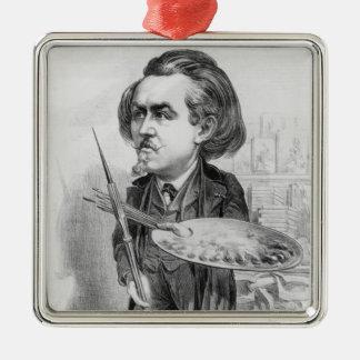 ギュスターブDore (1832-83年)、「Le Boulevからの風刺漫画 メタルオーナメント