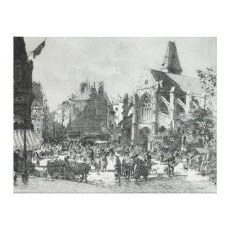 ギュスターブFraipont著Laの場所の聖者Médardパリ キャンバスプリント