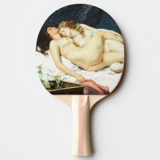ギュスターヴ・クールベ著睡眠 卓球ラケット