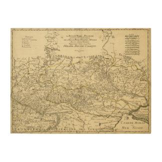 ギヨームSanson (1674年)著ウクライナの地図 ウッドウォールアート