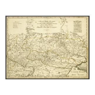 ギヨームSanson (1674年)著ウクライナの地図 キャンバスプリント