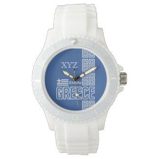 ギリシャのカスタムなイニシャルの腕時計 腕時計
