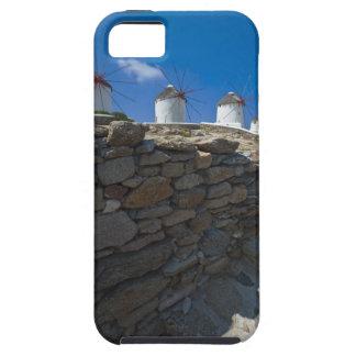ギリシャのキクラデス諸島の島、Mykonosの石塀 iPhone SE/5/5s ケース