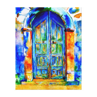ギリシャのドア キャンバスプリント