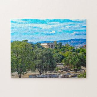 ギリシャのパズル- Hephaestusの寺院--を明らかにして下さい ジグソーパズル