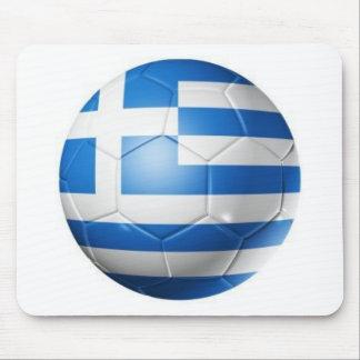 ギリシャのフットボールの旗 マウスパッド