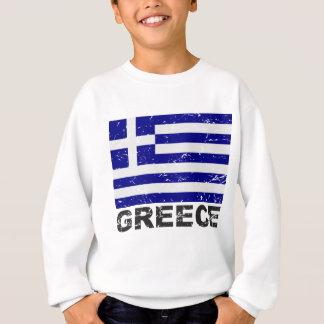 ギリシャのヴィンテージの旗 スウェットシャツ