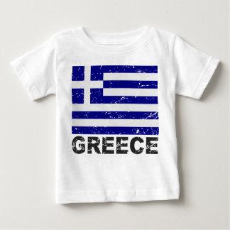 ギリシャのヴィンテージの旗 ベビーTシャツ