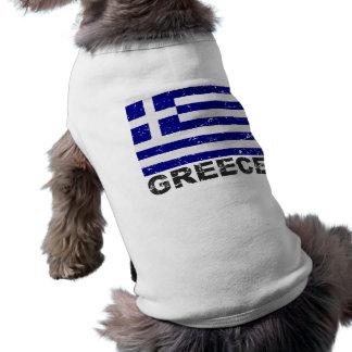 ギリシャのヴィンテージの旗 ペット服