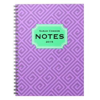 ギリシャの主パターンカスタムのノート ノートブック