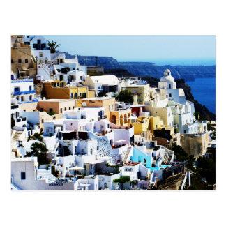 ギリシャの写真のSantoriniの島 ポストカード