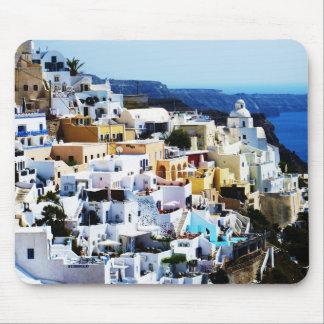 ギリシャの写真のSantoriniの島 マウスパッド