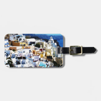 ギリシャの写真のSantoriniの島 ラゲッジタグ