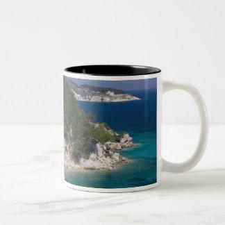 ギリシャの北東エーゲ海諸島、サモス、6 ツートーンマグカップ