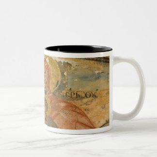 ギリシャの北東エーゲ海諸島、LESVOS 2 ツートーンマグカップ