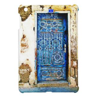 ギリシャの古い手塗りの青いドア iPad MINIケース