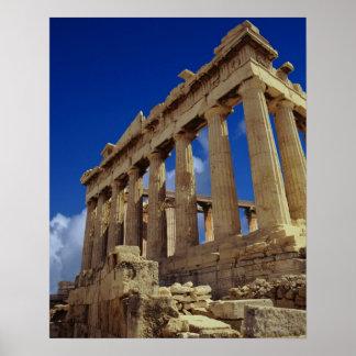 ギリシャの台なし、アクロポリス、ギリシャ ポスター