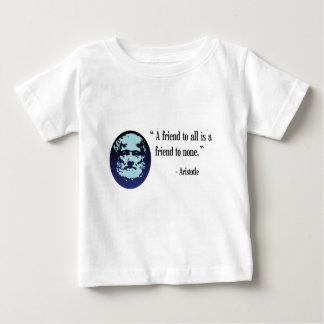 ギリシャの哲学者のアリストテレスのベビーのTシャツ ベビーTシャツ