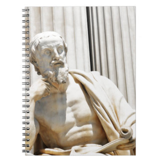 ギリシャの哲学者の彫像 ノートブック
