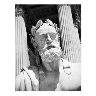 ギリシャの哲学者の彫像 ポストカード