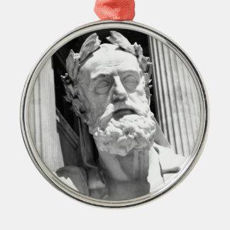 ギリシャの哲学者の彫像 メタルオーナメント