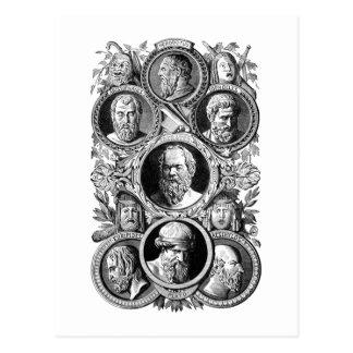 ギリシャの哲学者 ポストカード