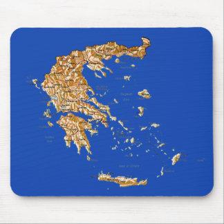 ギリシャの地図のマウスパッド マウスパッド