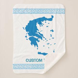 ギリシャの地図 シェルパブランケット