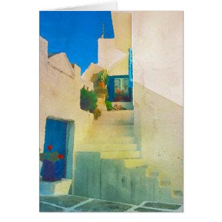 ギリシャの島の家 カード