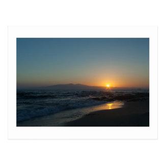 ギリシャの島の日没 ポストカード