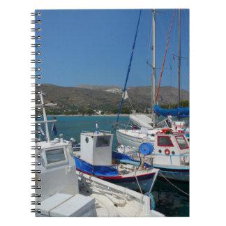 ギリシャの島港 ノートブック