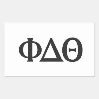ギリシャの手紙の黒 長方形シール