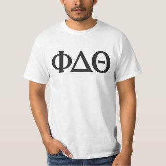 ギリシャの手紙の黒 Tシャツ