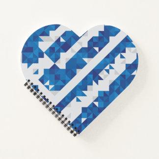 ギリシャの抽象的な旗、ギリシャのアートワークのノート ノートブック