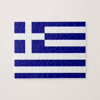 ギリシャの旗が付いているパズル ジグソーパズル
