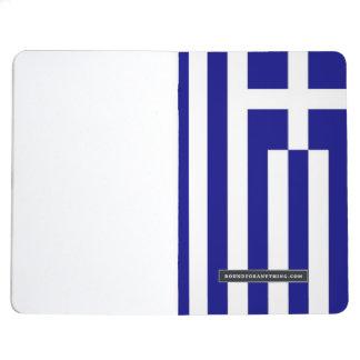 ギリシャの旗が付いている愛国心が強いジャーナル ポケットジャーナル