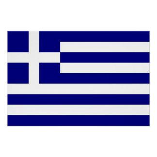 ギリシャの旗が付いている愛国心が強いポスター ポスター