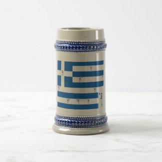 ギリシャの旗とのマグGrecian Evzone ビールジョッキ