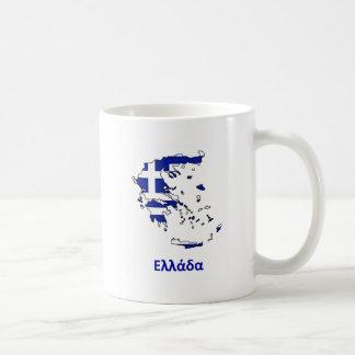 ギリシャの旗の地図 コーヒーマグカップ