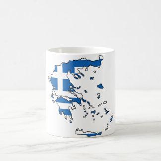 ギリシャの旗の地図GR コーヒーマグカップ