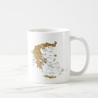 ギリシャの旗の~の地図のマグ コーヒーマグカップ